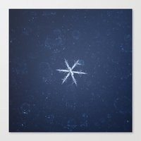 snowflake Canvas Prints featuring Snowflake by LainPhotography