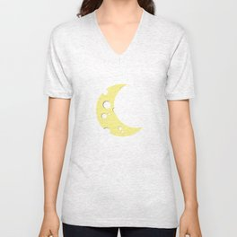 moon of cheese Unisex V-Neck