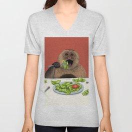 Dieting Monkeys Unisex V-Neck