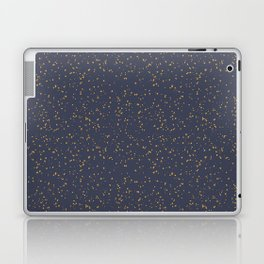 Speckles I: Dark Gold on Blue Vortex Laptop & iPad Skin