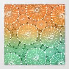 Abstract Floral Circles 7 Canvas Print