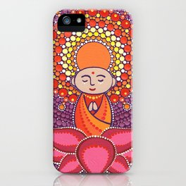 Jizo Meditating upon a Ruby Lotus iPhone Case