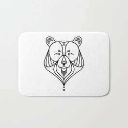 Black Bear Two Bath Mat