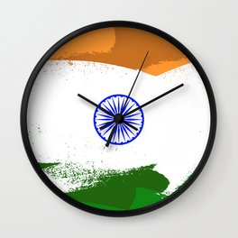 India Flag - Lionhearted Wall Clock
