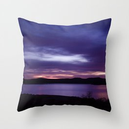Purple Sunrise Throw Pillow