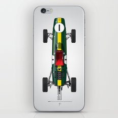 Outline Series N.º1, Jim Clark, Lotus 25-Coventry Climax 1962 iPhone & iPod Skin