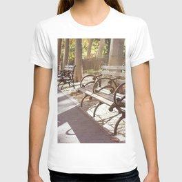 New York City Park Bench Moments T-shirt