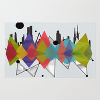 geometric Area & Throw Rugs featuring geometric  by mark ashkenazi