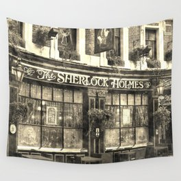 The Sherlock Holmes pub Vintage Wall Tapestry