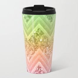 Rainbow Glitter Chevron #1 #shiny #decor #art #society6 Travel Mug