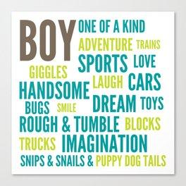 Boys Will Be Boys Canvas Print