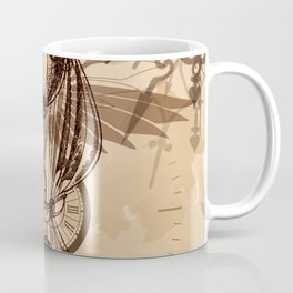 Steampunk - Clock and Gears Ballon Coffee Mug