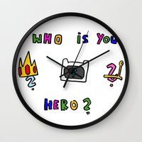 hero Wall Clocks featuring hero by Katharina Nachher