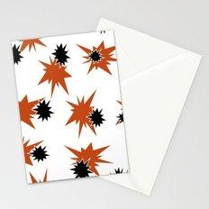 Stars (Orange & Black on White) Stationery Cards