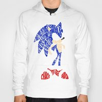 sonic Hoodies featuring Typography SONIC! by KeenaKorn