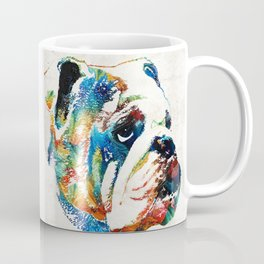 Bulldog Pop Art - How Bout A Kiss - By Sharon Cummings Coffee Mug
