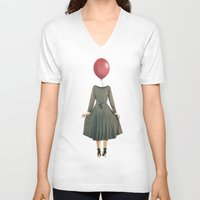 balloon V-neck T-shirts featuring Balloon  by MojoPhoto59
