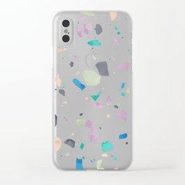 Terrazzo 2 Clear iPhone Case