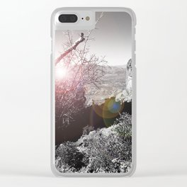Superstition Mountains Clear iPhone Case