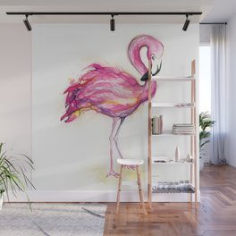 Isla's Flamingo Wall Mural