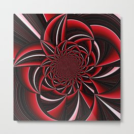 black and red abstract Metal Print