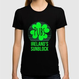 Pubs The Official Sunblock of Ireland St Patricks Day T-shirt
