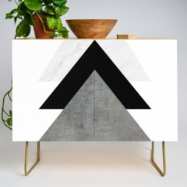 Arrows Monochrome Collage Credenza