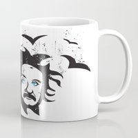 einstein Mugs featuring Einstein by KaytiDesigns