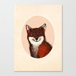 Feeling Foxy Woodland Animal Illustration Canvas Print