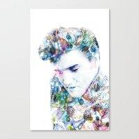 elvis presley Canvas Prints featuring Elvis Presley by NKlein Design