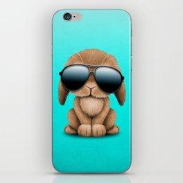 Cute Baby Bunny Wearing Sunglasses iPhone Skin