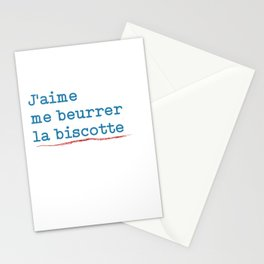 Jack T-shirt I Like To Butter My Rusk Oss117 Stationery Cards