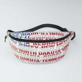 USA states flag Fanny Pack
