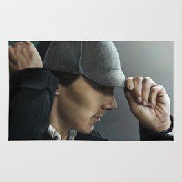 Sherlock and his deerstalker Rug