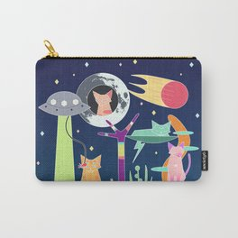 Alien Cat Tower Carry-All Pouch