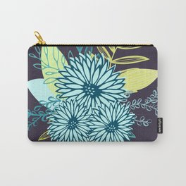 Winter Flowers in Peacock Carry-All Pouch