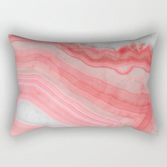 Coral Pink Agate  Rectangular Pillow