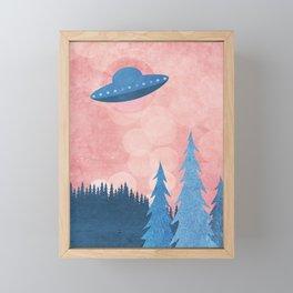 Unidentified Flying Object Framed Mini Art Print