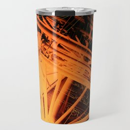 Roof Strut Abstract in Orange Travel Mug