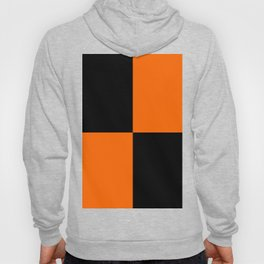 Big mosaic orange black Hoody
