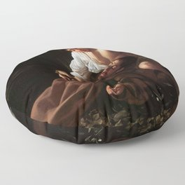 Saint Francis of Assisi in Ecstasy by Caravaggio (1595) Floor Pillow