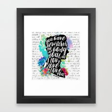 Mr.Darcy - I Love You Framed Art Print