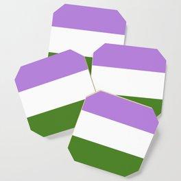 Genderqueer Pride Flag Coaster
