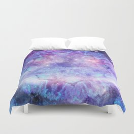 Purple Galaxy - Psychedelic Summer Series by iDeal Duvet Cover