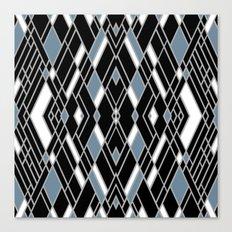 Art Deco Zoom Blue Canvas Print
