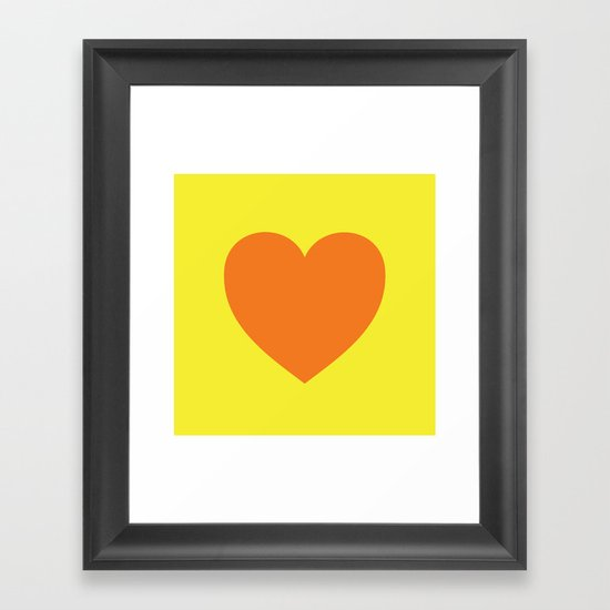 Pop Art Heart Framed Art Print