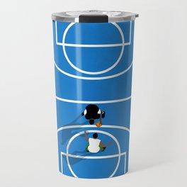 Shooting Hoops | Basketball Court Travel Mug