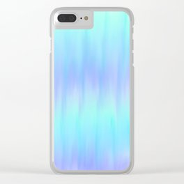 Blurred Waves Clear iPhone Case