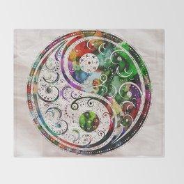 Yin and Yang Balance Poster Print by Robert R Throw Blanket