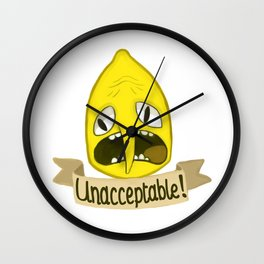 Lemongrab Unacceptable Wall Clock